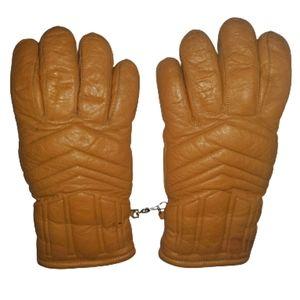 Vintage Aris Mens Softan Leather Sherpa Gloves M